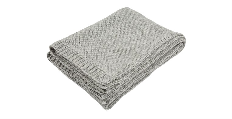 Alpaca Chunky Knit Throw